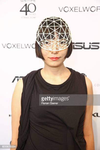 Designer Heidi Lee wearing one of her creations attends the 3D Fashion Presented By Lexus/Voxelworld show during Platform Fashion July 2017 at Areal...