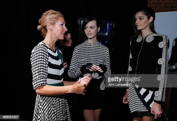 Designer Heidi Middleton attends the Sass Bide Show during MercedesBenz Fashion Week Fall 2014 at Classic Car Club on February 12 2014 in New York...