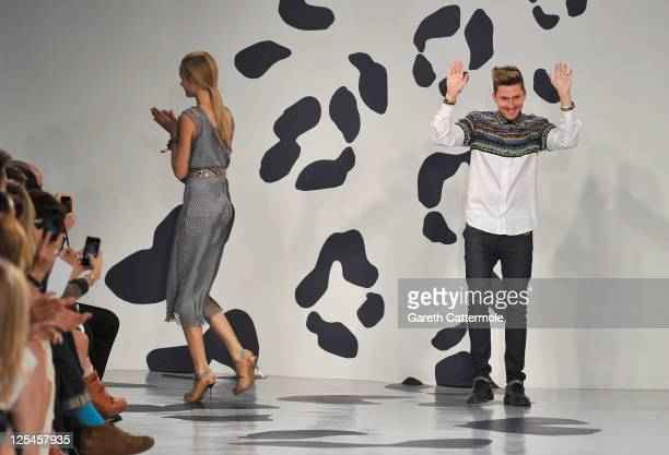 Designer Henry Holland after his House of Holland show at London Fashion Week Spring/Summer 2012 on September 17 2011 in London United Kingdom