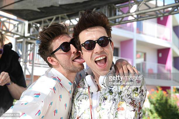 Designer Henry Holland and DJ Nick Grimshaw attend the House Of Holland eyewear pool party hosted by Henry Holland and Io Echo to launch the brand's...