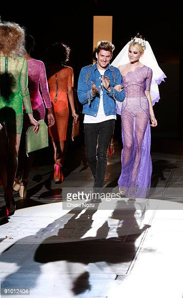Designer Henry Holland and models walk down the runway during the House of Holland show at LFW Spring Summer 2010 fashion show at The Guildhall on...