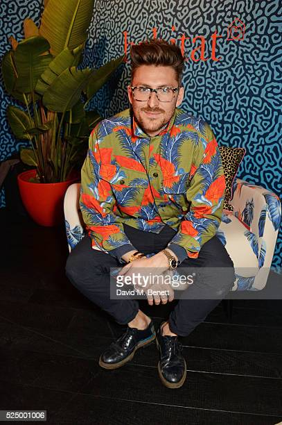 Designer Henry Holland attends the launch of House of Holland's first interiors collection with Habitat at Habitat Tottenham Court Road on April 27...