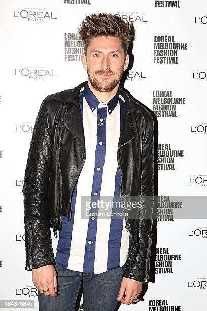 Designer Henry Holland poses following the Sportsgirl National Graduate Showcase during day six of L'Oreal Melbourne Fashion Festival on March 23...