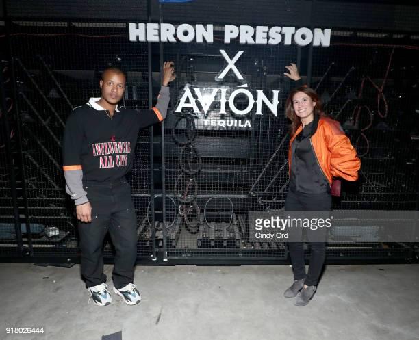 Designer Heron Preston and President of Tequila Avion Jenna Fagan attend the Heron Preston Tequila Avion Dance Party in Celebration Of Heron Preston...