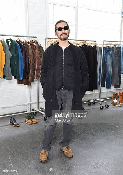 Designer Hiroki Nakamura poses at the Visvim presentation during Fall 2016 New York Fashion Week at Industria Superstudio on February 12 2016 in New...
