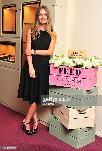Designer/ Hunger activist Lauren Bush poses for a photograph during the 'FEED For Links of London' press reception at Links of London flagship store...