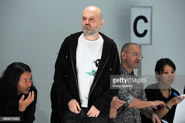 Designer Hussein Chalayan is seen prior the Chalayan show as part of the Paris Fashion Week Womenswear Spring/Summer2016 on October 2 2015 in Paris...