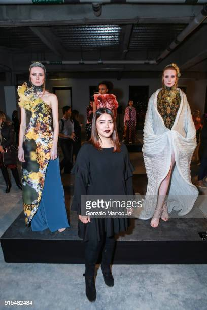 Designer Ilse Jara from Paraguay during the Epson's F/W 18 Digital Couture Panel and Presentation on February 6 2018 in New York City