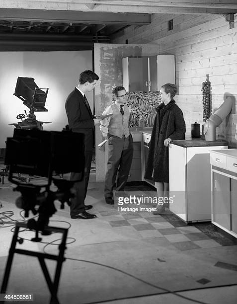 Designer in a photographic studio Mexborough South Yorkshire 1964 A photograph taken for a local advertising agency The Studio belonged to the...