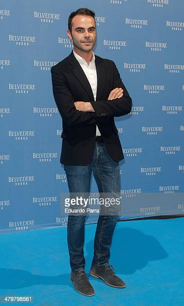 Designer Ion Fiz attends Belvedere Vodka party photocall at Principe Pio train station on March 20 2014 in Madrid Spain
