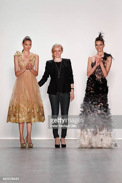 Designer Irene Luft and models walk the runway at the Irene Luft show during the MercedesBenz Fashion Week Spring/Summer 2015 at Erika Hess...