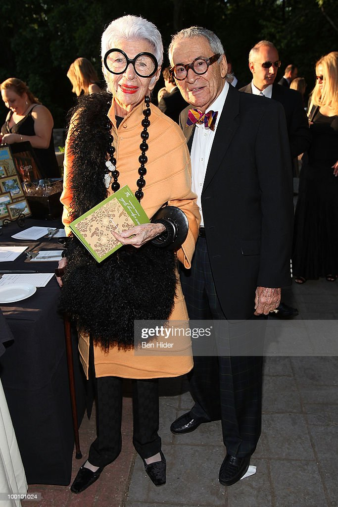 Designer Iris Apfel and Carl Apfel attend the Green Chimneys Annual Spring Gala at Tappan Hill Mansion on May 20, 2010 in Tarrytown, New York.