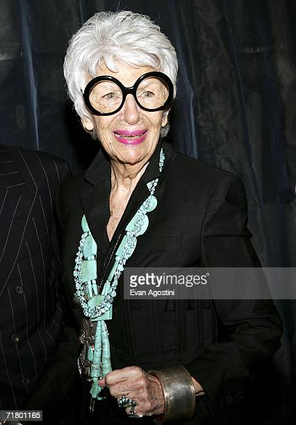 Designer Iris Apfel attends Jean Paul Gaultier's 30th anniversary and boutique opening at Bergdorf Goodman September 6 2006 in New York City