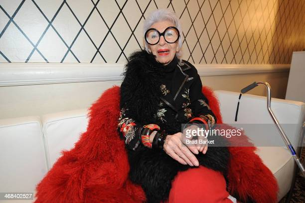 Designer Iris Apfel attends the HSN Fashion Week Lounge At The Empire Hotel on February 10 2014 in New York City