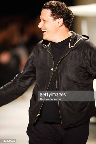 Designer Isaac Mizrahi presents his Isaac Mizrahi Spring 2010 collection during Mercedes-Benz Fashion Week at Bryant Park on September 17, 2009 in...