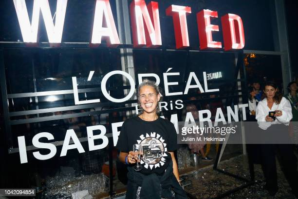 Designer Isabel Marant attends the L'Oreal X Isabel Marant Party as part of the Paris Fashion Week Womenswear Spring/Summer 2019 at Jardin des...