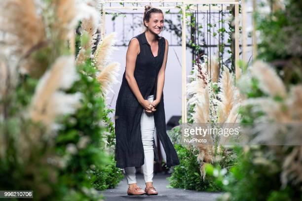 Designer Isabel Núñez de Armas at the 'Inunez' catwalk during the MercedesBenz Madrid Fashion Week Spring/Summer in Madrid Spain July 10 2018