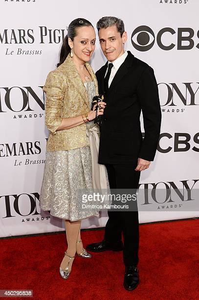 Designer Isabel Toledo and artist Ruben Toledo attend the 68th Annual Tony Awards at Radio City Music Hall on June 8 2014 in New York City