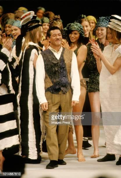 Designer Issey Miyakei during Paris Fashion Week circa 1993 in Paris.