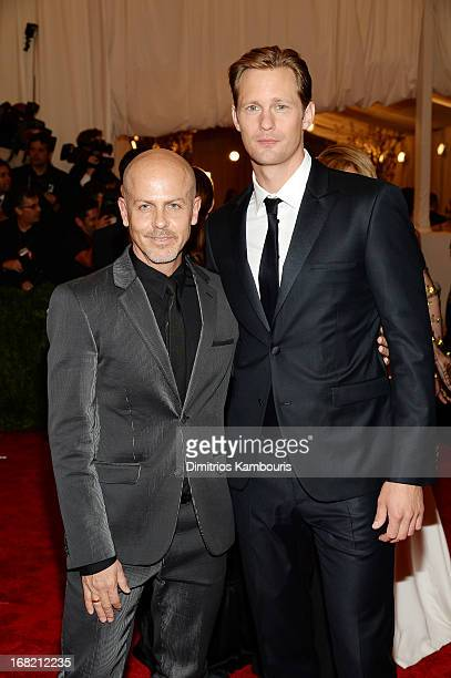 Designer Italo Zucchelli and actor Alexander Skarsgard attend the Costume Institute Gala for the PUNK Chaos to Couture exhibition at the Metropolitan...