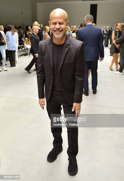 Designer Italo Zucchelli attends the Calvin Klein Collection fashion show during MercedesBenz Fashion Week Spring 2014 at Spring Studios on September...