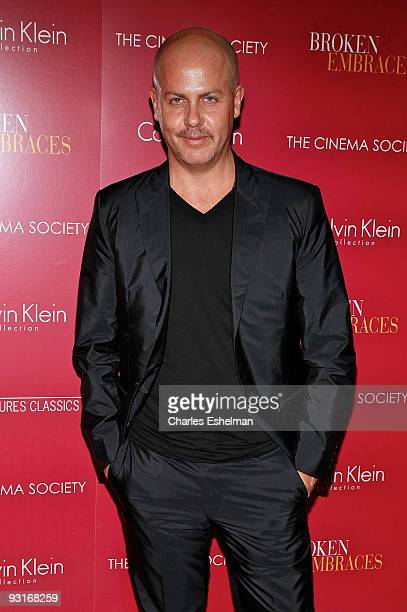 "Designer Italo Zucchelli attends The Cinema Society & Calvin Klein screening of ""Broken Embraces"" at the Crosby Street Hotel on November 17, 2009 in..."
