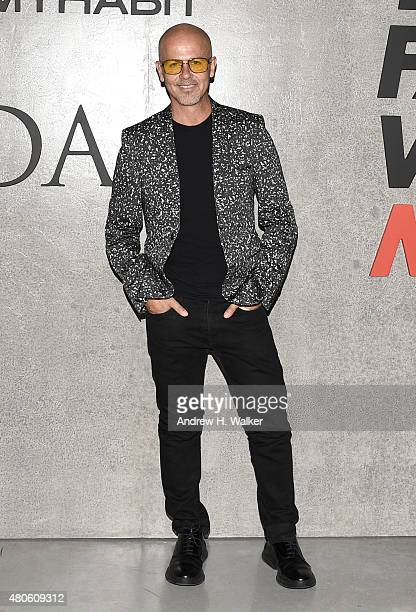 Designer Italo Zucchelli attends the opening event for New York Fashion Week: Men's S/S 2016 at Amazon Imaging Studio on July 13, 2015 in Brooklyn,...