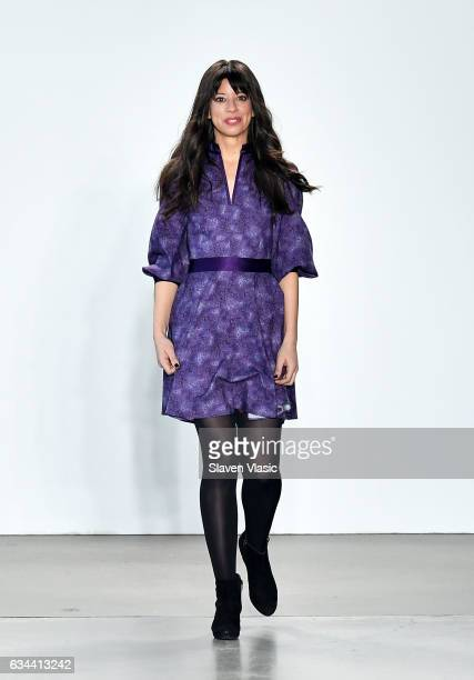 Designer Iyala Anne walks the runway at Ane Amour fashion show during February 2017 New York Fashion Week at Pier 59 on February 9 2017 in New York...