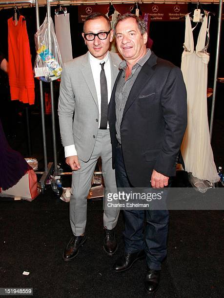 Designer J Mendel and Alec Gores attends the JMendel Spring 2013 MercedesBenz Fashion Week Show at The Theatre Lincoln Center on September 12 2012 in...