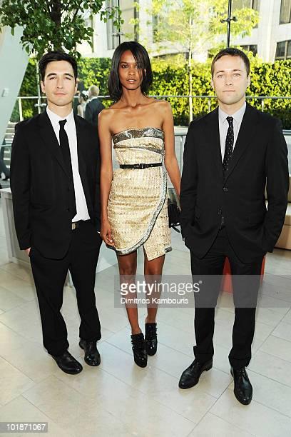 Designer Jack McCollough model Liya Kebede and designer Lazaro Hernandez attend the 2010 CFDA Fashion Awards at Alice Tully Hall Lincoln Center on...