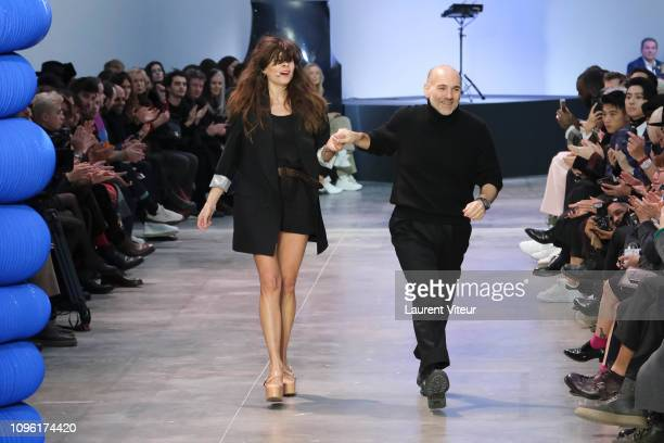 Designer Jason Basmajian walks the runway during the Cerruti 1881 Menswear Fall/Winter 20192020 show as part of Paris Fashion Week on January 18 2019...