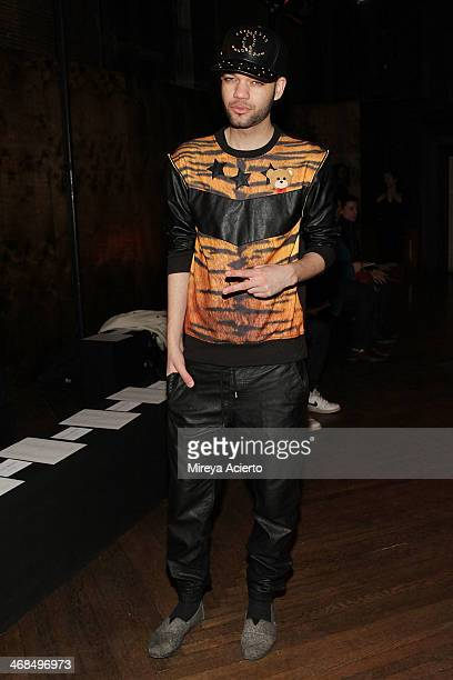 Designer Jason Christopher Peters attends the Billy Reid Men's fashion show during MercedesBenz Fashion Week Fall 2014 at The Highline Hotel on...