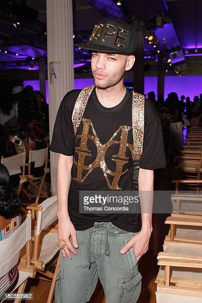 Designer Jason Christopher Peters attends the FrontRow by Shateria MoragneEl at the STYLE360 Fashion Pavilion in Chelsea on September 11 2013 in New...