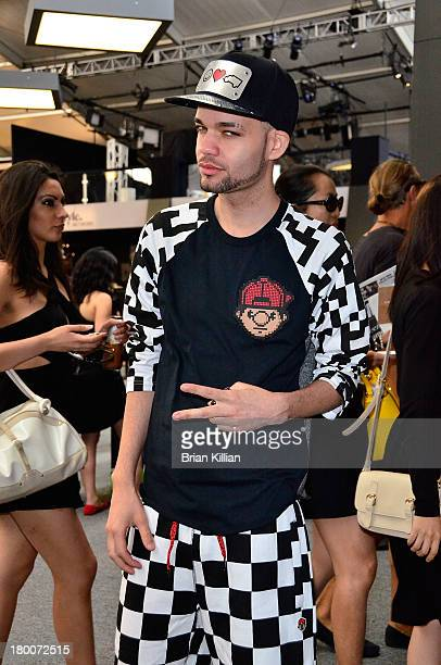Designer Jason Christopher Peters attends the Tracy Reese show during Spring 2014 MercedesBenz Fashion Week at The Studio at Lincoln Center on...