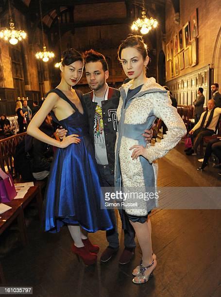 Designer Jason Christopher Peters attends the Yuna Yang presentation during Fall 2013 MercedesBenz Fashion Week at the Desmond Tutu Center on...