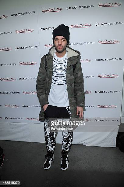 Designer Jason Christopher Peters poses at the Grungy Gentleman presentation during MercedesBenz Fashion Week Fall 2015 at Pier 59 Studios on...