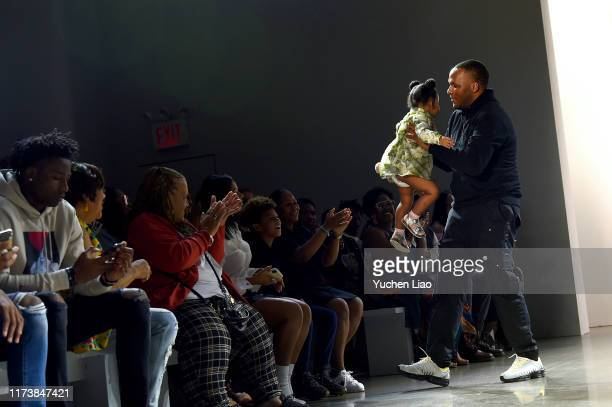 Designer Jason Rembert is seen on the runway at Aliette fashion show during New York Fashion Week The Shows at Gallery II at Spring Studios on...