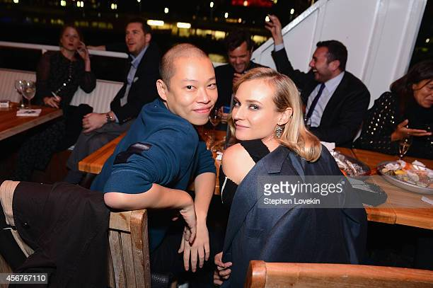 """Designer Jason Wu and actress Diane Kruger attends the premiere of SHOWTIME drama """"The Affair"""" held at North River Lobster Company on October 6, 2014..."""