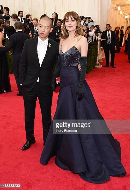 Designer Jason Wu and model Dakota Johnson attend the Charles James Beyond Fashion Costume Institute Gala at the Metropolitan Museum of Art on May 5...