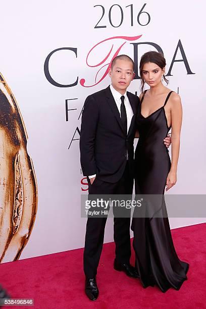 Designer Jason Wu and model Emily Ratajkowski attend the 2016 CFDA Fashion Awards at the Hammerstein Ballroom on June 6, 2016 in New York City.