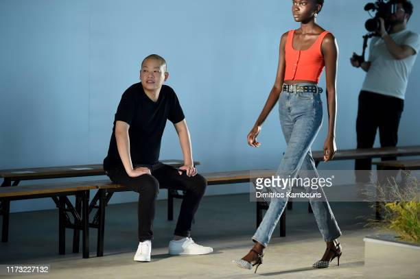 Designer Jason Wu attends the Jason Wu Collection front row rehearsal during New York Fashion Week: The Shows at Pier 17 on September 08, 2019 in New...