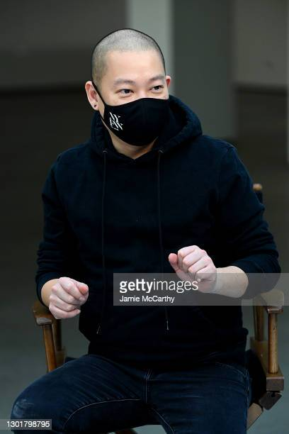 Designer Jason Wu speaks at the Jason Wu Masterclass during February 2021 - New York Fashion Week: The Shows at Spring Studios on February 12, 2021...