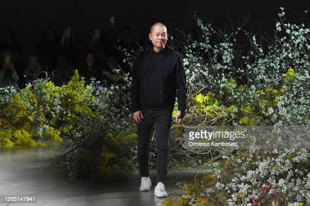 Designer Jason Wu takes a bow following the Jason Wu Collection during February 2020 - New York Fashion Week: The Shows at Skylight Modern on...