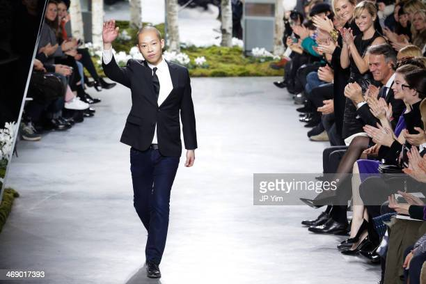 Designer Jason Wu walks the runway at Boss Women Fall 2014 Collection during MercedesBenz Fashion Week Fall 2014 at Skylight Limited on February 12...
