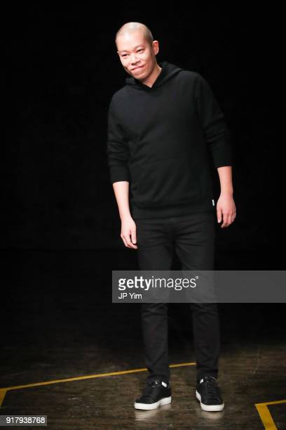 Designer Jason Wu walks the runway at BOSS Womenswear Gallery Collection during New York Fashion Week Mens' at Cedar Lake on February 13 2018 in New...