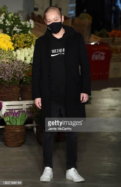 Designer Jason Wu walks the runway at the Jason Wu Runway during New York Fashion Week: The Shows on February 14, 2021 in New York City.