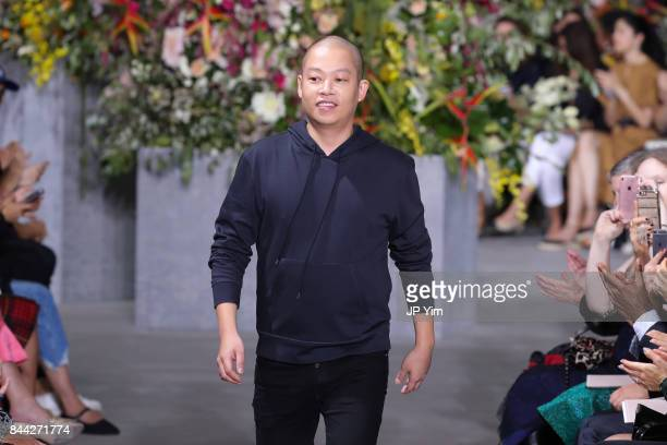 Designer Jason Wu walks the runway at the Jason Wu SS 2018 Collection at Fulton Market during New York Fashion Week on September 8 2017 in New York...