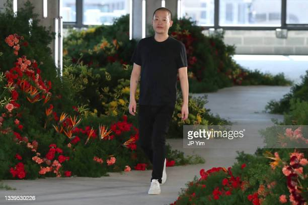 Designer Jason Wu walks the runway for Jason Wu Collection during NYFW: The Shows on September 10, 2021 in New York City.