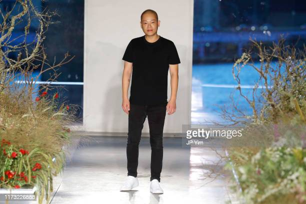 Designer Jason Wu walks the runway for the Jason Wu Collection during New York Fashion Week: The Shows at Pier 17 on September 08, 2019 in New York...