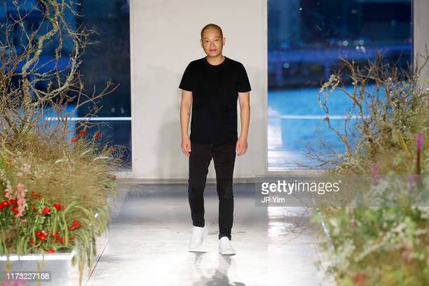 Designer Jason Wu walks the runway for the Jason Wu Collection during New York Fashion Week The Shows at Pier 17 on September 08 2019 in New York City